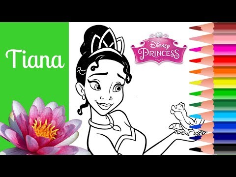 TIANA COLORING DISNEY PRINCESS ! Coloring Pages , Coloring Book , How to Color DIY