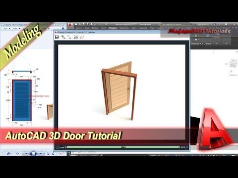 Cara membuat pintu 2D untuk denah di AutoCAD.