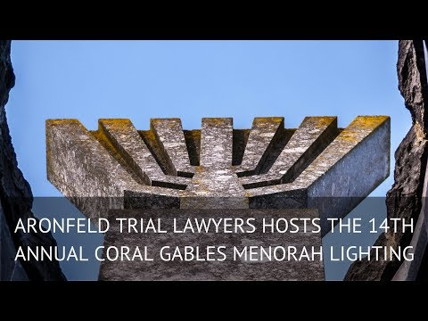Aronfeld Trial Lawyers Hosts the 14th Annual Coral Gables Menorah Lighting