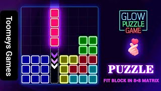 Glow Block Puzzle - Glow Themed Classic Block Puzzle - Gameplay! screenshot 1