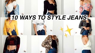 HOW TO: Style Jeans 10 Ways! 10 ways to wear High Waisted Jeans!