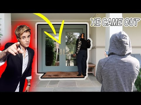 DING DONG DITCH PRANK ON JUSTIN BIEBER!