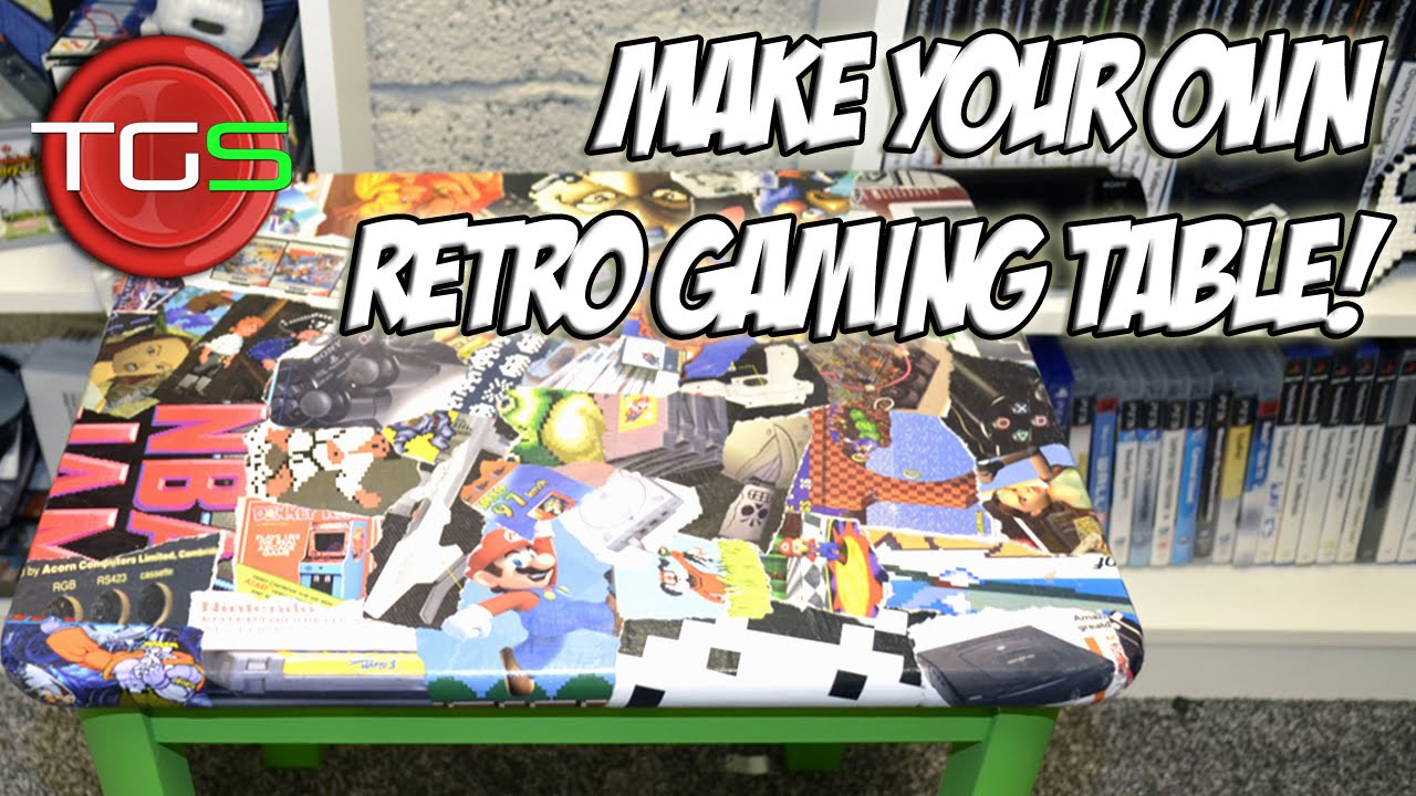 How To Make Your Own Decoupage Retro Gaming Table YouTube - Make your own gaming table