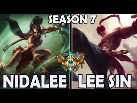 SKT T1 Peanut plays Nidalee vs Lee Sin