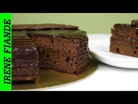 Супер шоколадный торт Захер с шоколадной глазурью и абрикосовым джемом