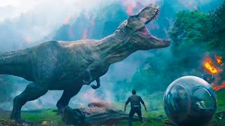 Jurassic World Fallen Kingdom - Running Off The Island Scene!! (HD) 2018