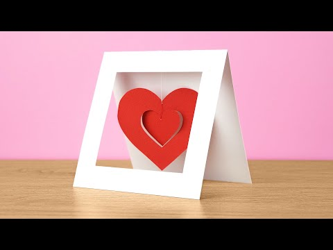 Twirly heart mobile card tutorial | DIY - Love & Valentine's Day greeting card