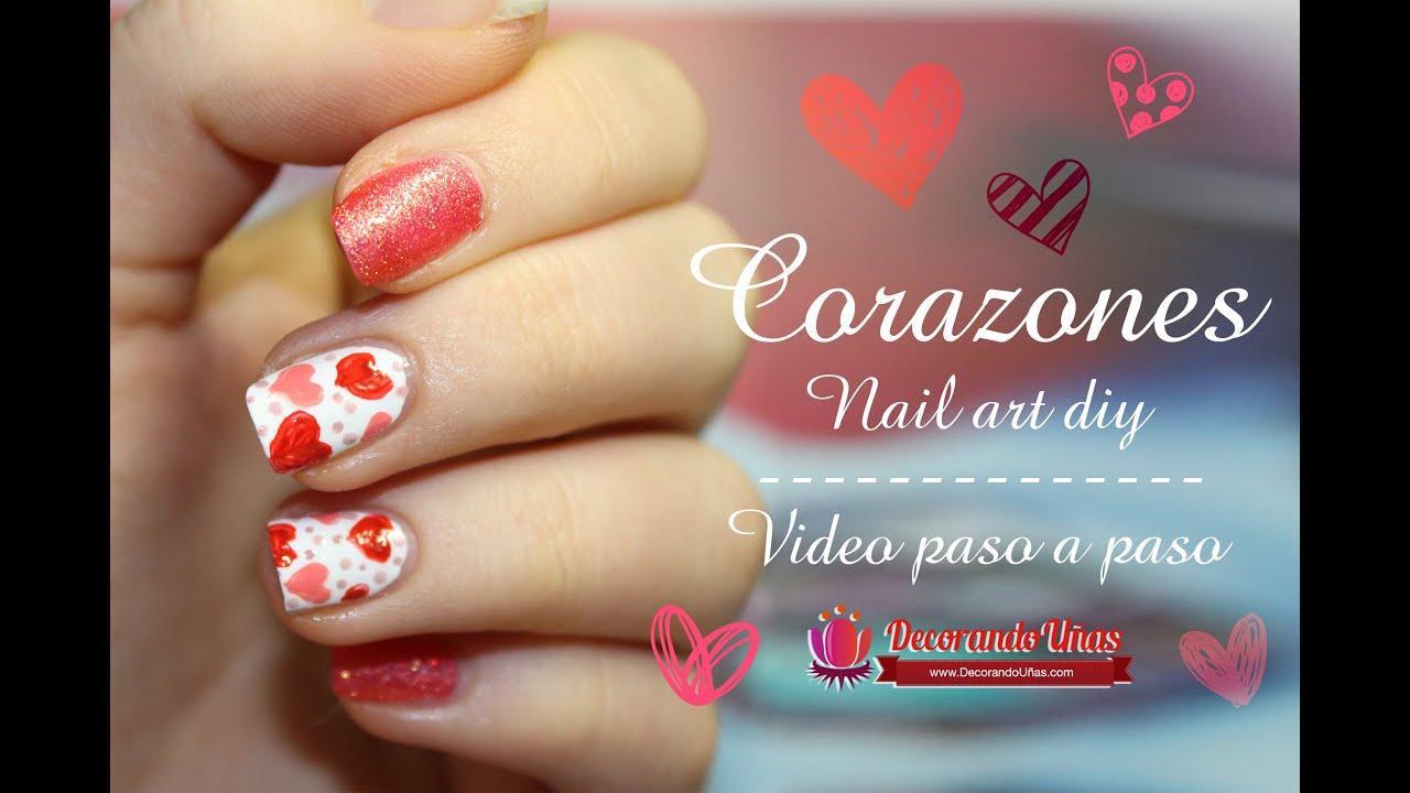 Unas decoradas con corazones youtube - Ver unas decoradas ...