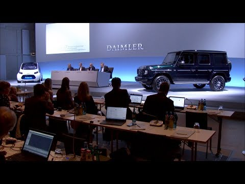 Daimler Annual Press Conference 2018