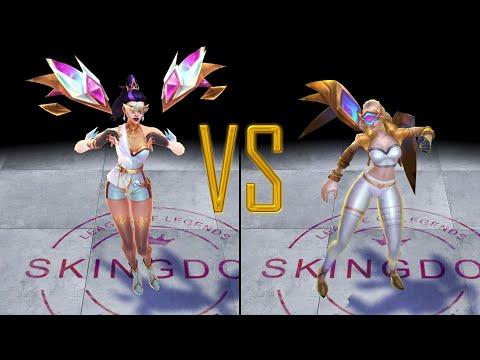 Prestige KDA ALL OUT KaiSa vs Prestige KDA KaiSa Skin Comparison Spotlight