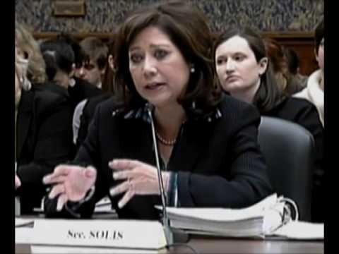Labor Secretary Hilda Solis Testimony