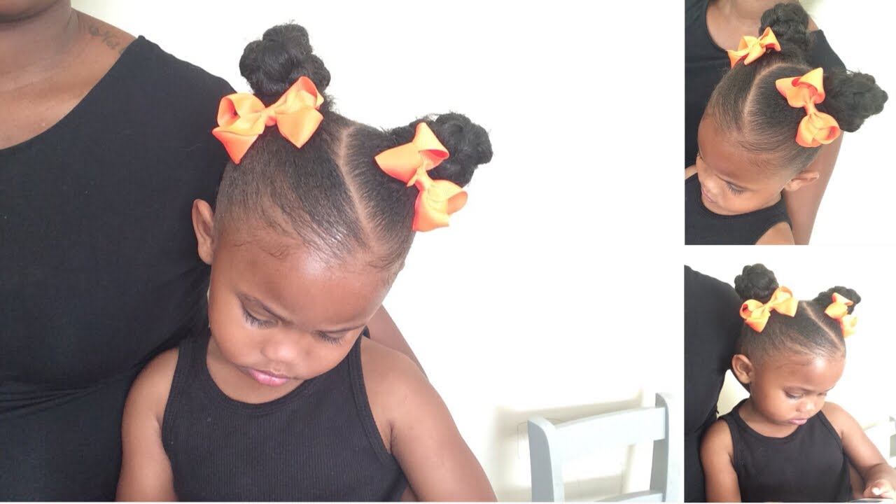 Braided Bun Hairstyle For Little Girls Natural Hair