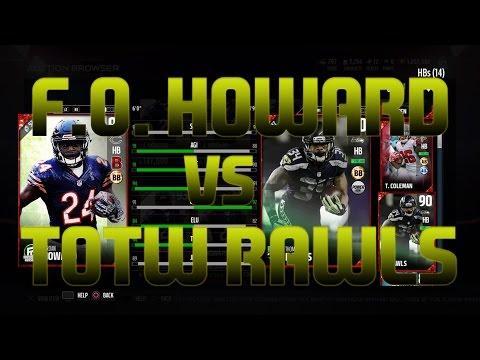 Football Outsiders Jordan Howard | Totw Thomas Rawls | Madden 17 Ultimate Team | Player Review