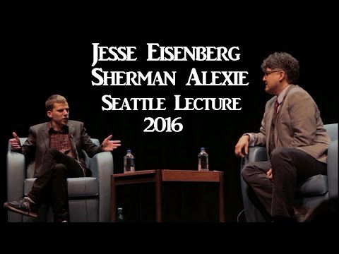 JESSE EISENBERG LECTURE  IN SEATTLE 2016 WITH SHERMAN ALEXIE