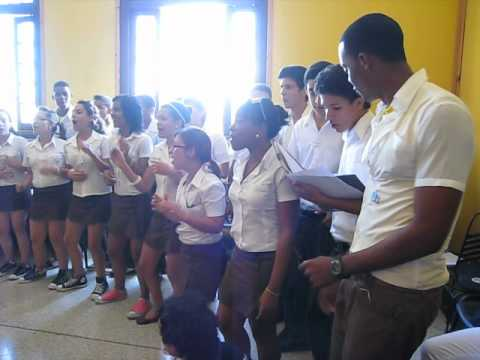 Cuban Student Song Presentation [Cuba 2012]