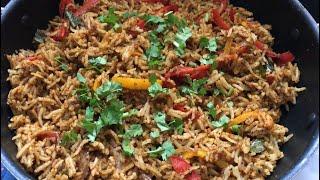 Capsicum Masala Rice Recipe Video | Lunch box Recipes | Easy Rice Recipes for Lunch Rice Varieties