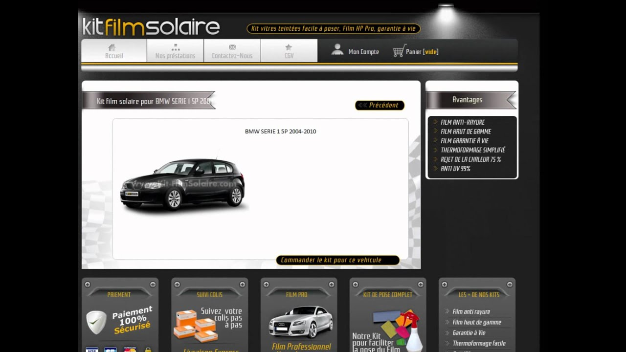 film solaire voiture youtube. Black Bedroom Furniture Sets. Home Design Ideas