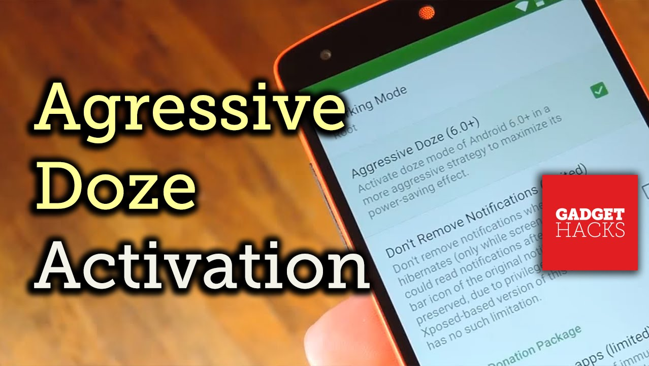 Enter 'Doze' Mode as Soon as You Turn Your Screen Off [How-To]