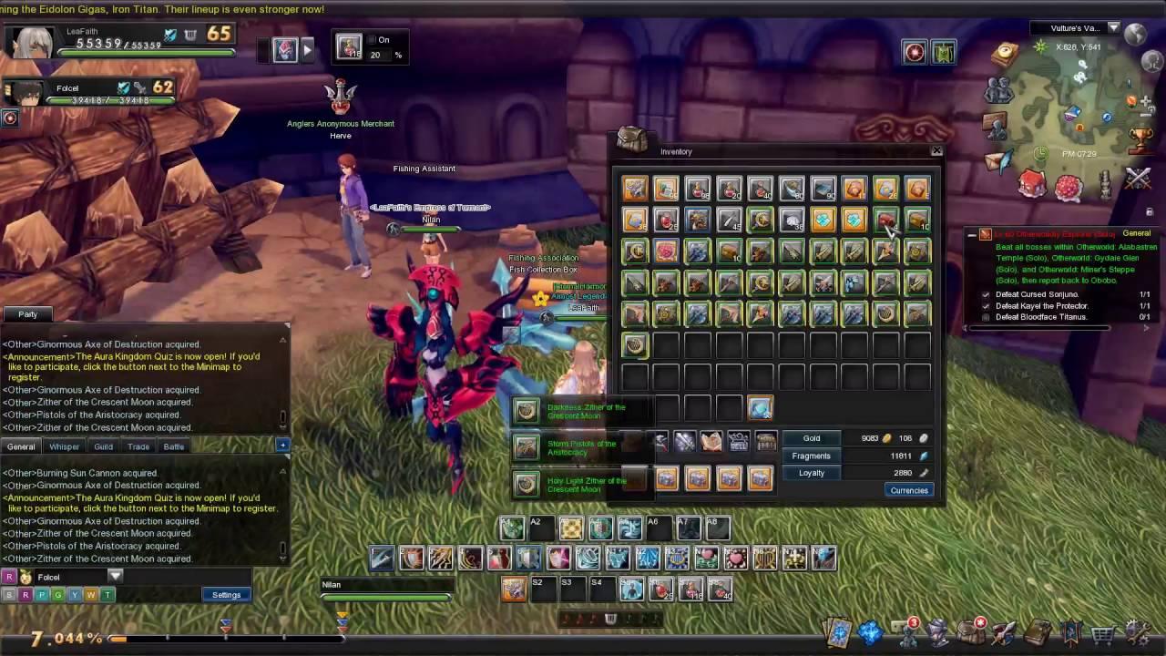 Farming Fragments Aura Kingdom