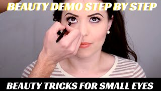 HOW TO MAKE SMALL EYES APPEAR LARGER PRO MAKEUP VIDEO TUTORIAL- mathias4makeup