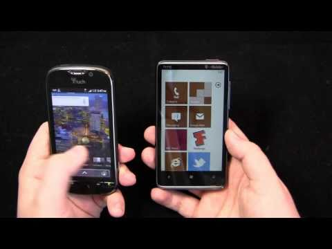 T-Mobile myTouch 4G vs. HTC HD7 Dogfight Part 1