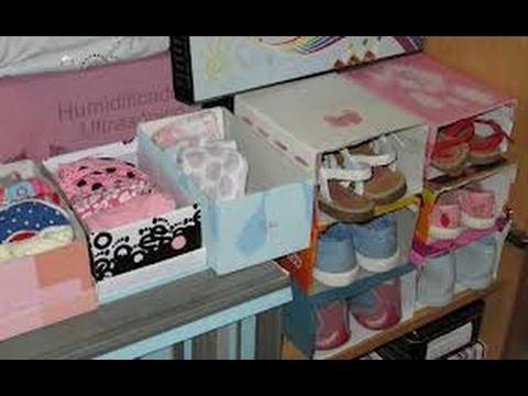 Como hacer un organizador de zapatos casero 5 youtube - Manualidades con cajas de zapatos ...