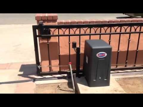 All-O-Matic SL 100 slide gate operator - YouTube