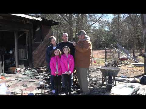 Jason Miles & his family lost their home to a fire New Years Day
