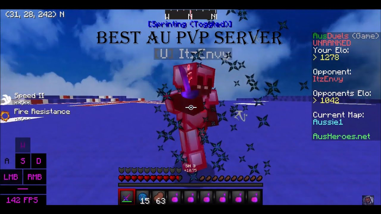 Best Aus Minecraft Practice PvP Server Elo Series We Beat The