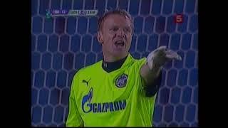 Удинезе 2 0 Зенит Кубок УЕФА 2008 2009 1 8 финала