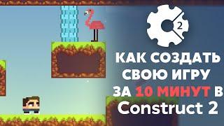 construct 2 Как создать игру: Платформер - Урок 4 - Создаем жизни персонажу