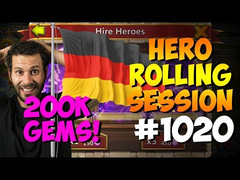 Rolling 200K Gems + Hero Collector...  Einmal!