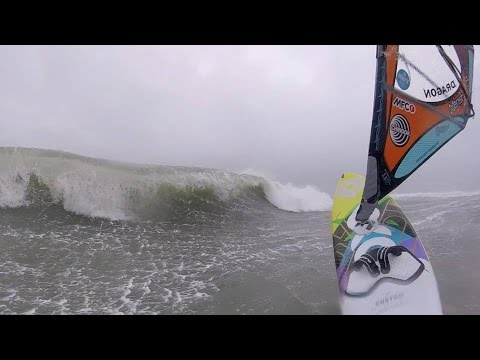 Raw GoPro Footage Storm Sailing Ocean Beach San Francisco Jan 8, 2017