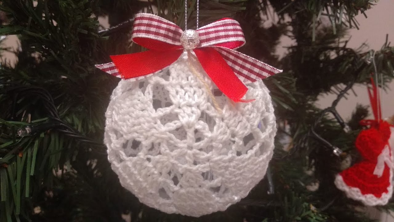 Pallina Di Natale Uncinetto Tutorial Christmas Ball Crochet Esfera