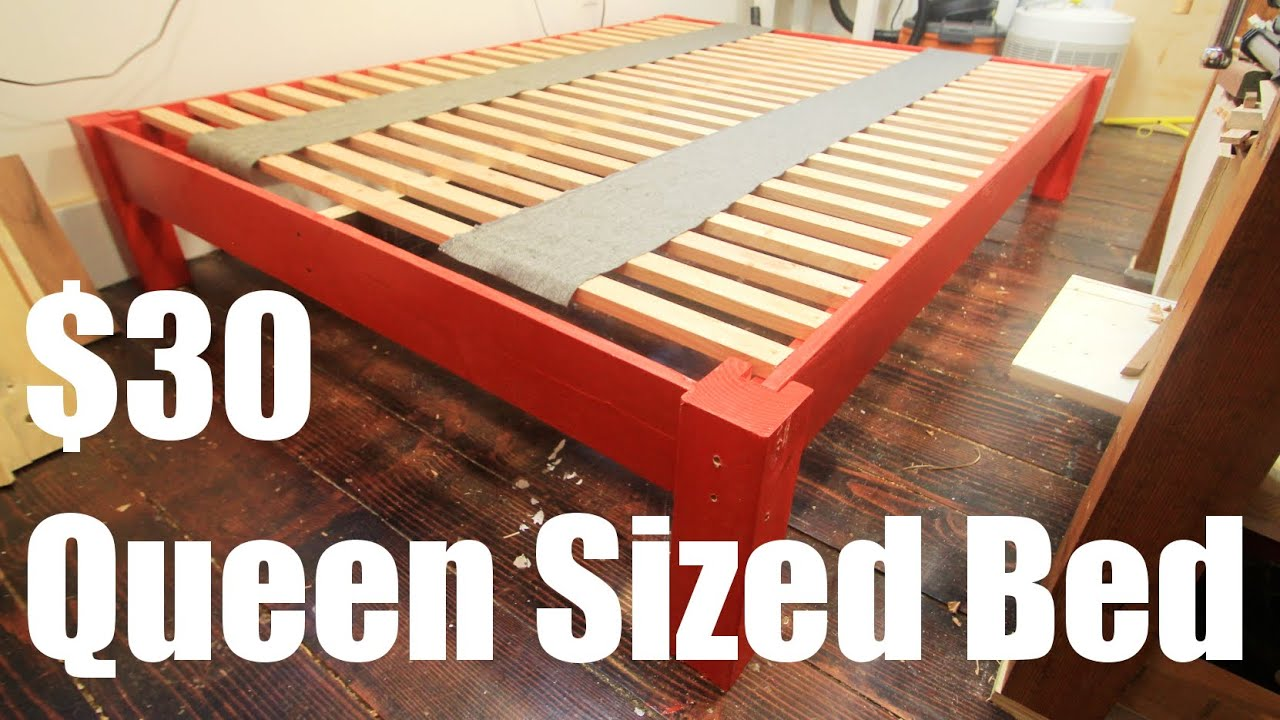 How To Make a Queen Sized Bed for Under $30 - YouTube