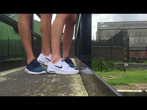 White & Blue Janoski Max Shoe Play with Messyste1