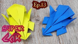 DIY Toy Paper Car | How To Make A Racing Paper Super Car Tutorials | Easy Origami Craft Kids Ep.13