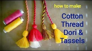 Cotton Thread Twisted Dori and Tassels For Blouse &Kurti