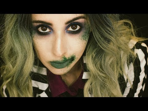 Beetlejuice Halloween Makeup Tutorial 2017 Glamoween Youtube