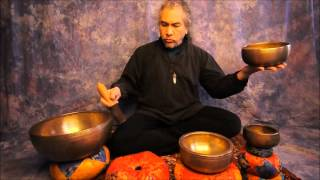Meditation/2nd Chakra with Tibetan Singing Bowls .wmv