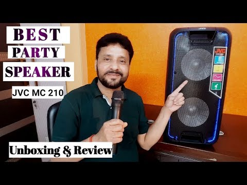 Best Trolley Speaker | JVC MC210 80 W Bluetooth Party Speaker | Unboxing And Review In Hindi