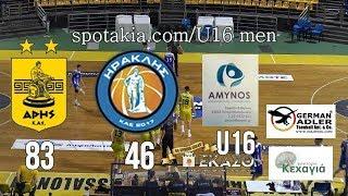 GrSpotakia    Άρης -  Ηρακλής 83 - 46  U16 Men HL