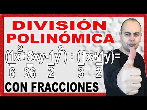 Divisiones de polinomios con fracciones dividendo y divisor (1).