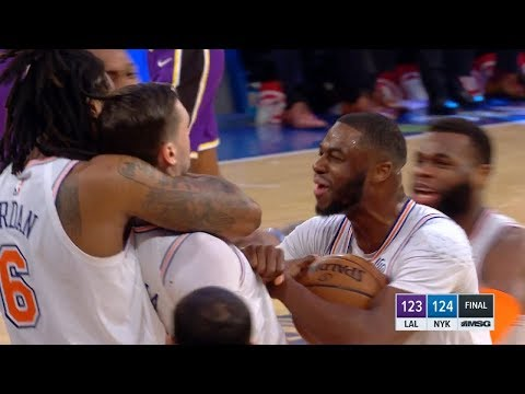 Mario Hezonja Denies LeBron James GAME-WINNER! - Lakers vs Knicks | March 17, 2019