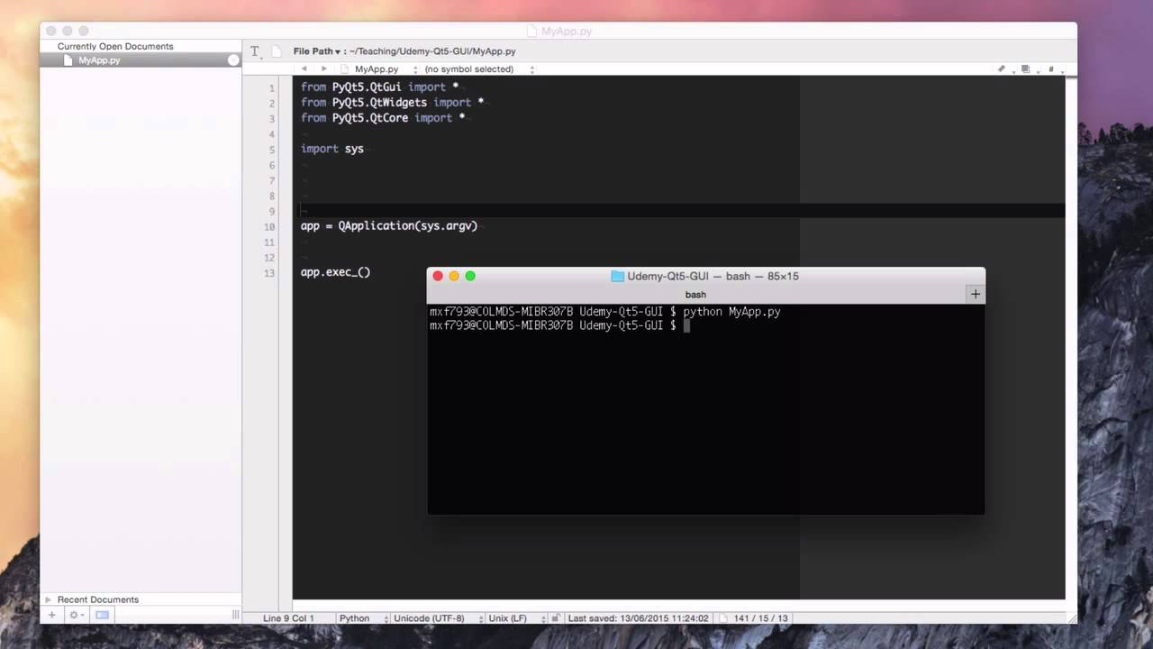 Creating GUIs with PyQt - Lecture 5: Creating a window