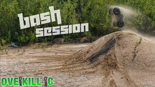Morning Bash Session w/ the 4s LiPo Traxxas Stampede 4x4 | Edit | Overkill RC