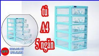 Tủ A4 5 ngăn, Tủ nhựa A4 5 tầng Duy Tân