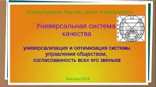 Универсальная система качества управления Жизнью и Деятельностью, часть 1, Хойнацка Т.А.