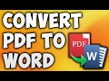 How to Convert Pdf to Word Online - Best Free Pdf to Word Converter [BEGINNER'S TUTORIAL]