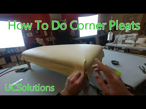 Upholstery For Beginners - How To Finish A Bench Seat - Tricky Corner Pleats Made Simple!